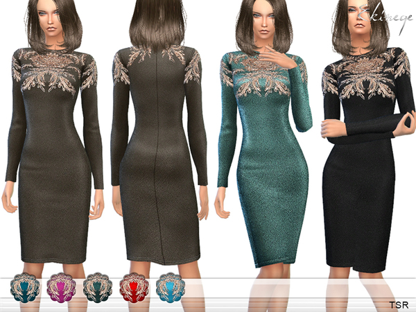 Embellished Midi Dress by ekinege
