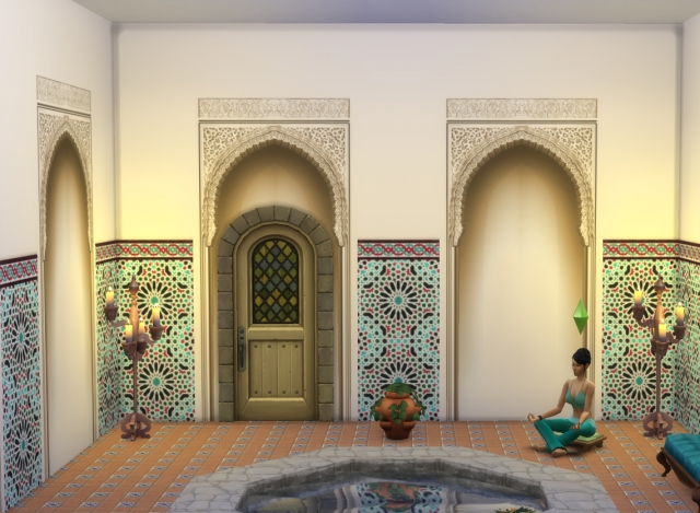 Alhambra Moorish Arch, 2 colors. by Velouriah