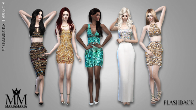 Sequin Dresses by MariaMaria