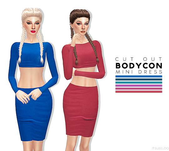 Cutout Bodycon Mini Dress by ItsLeeloo