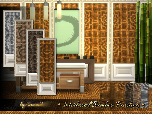 Interlace Bamboo Paneling by emerald
