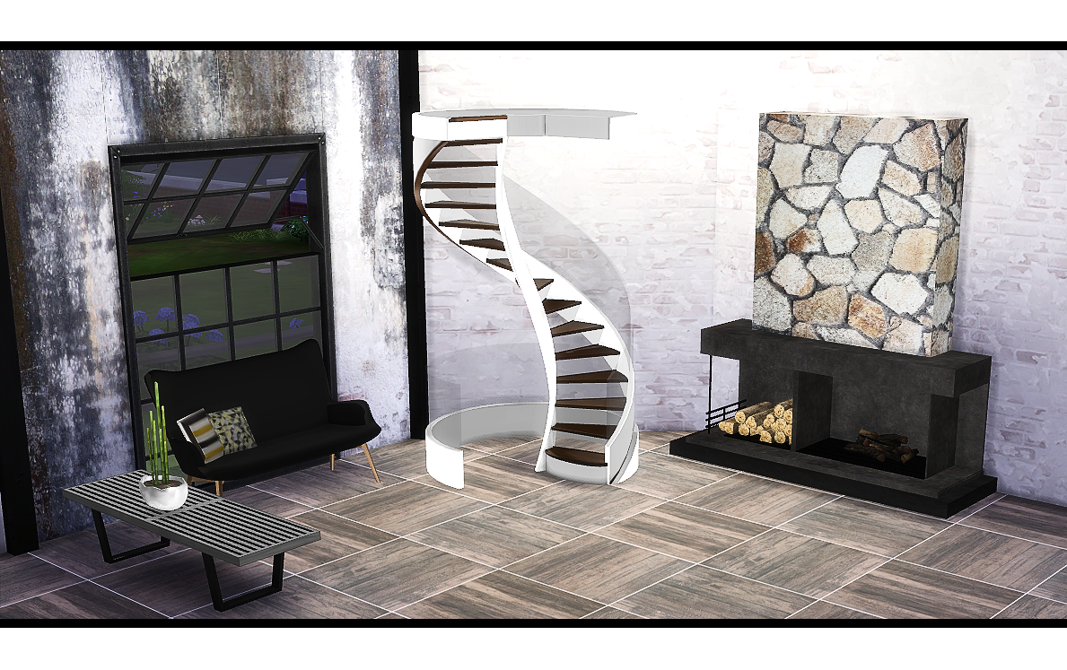 TS3 Fusion Spiral Stairs Conversion by Daer0n