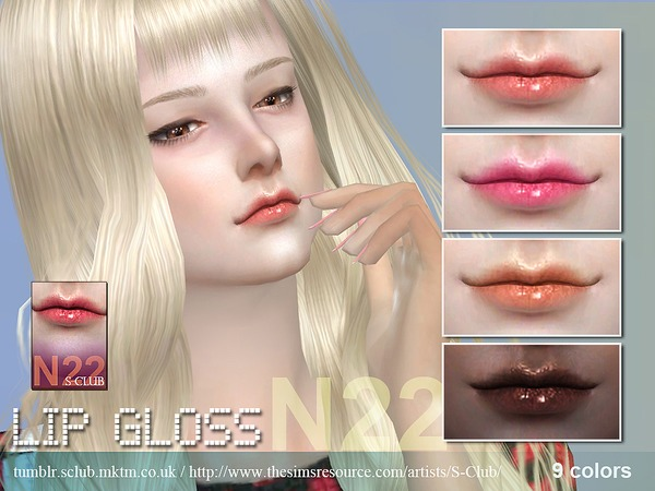 S-Club WM thesims4 Lipstick 22