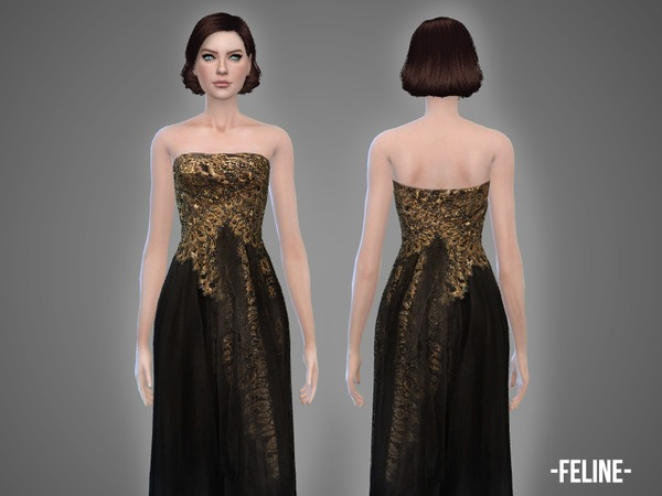 Feline - gown by -April-
