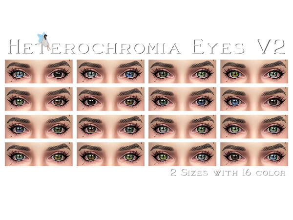 Heterochromia Eyes V2 by Ms_Blue