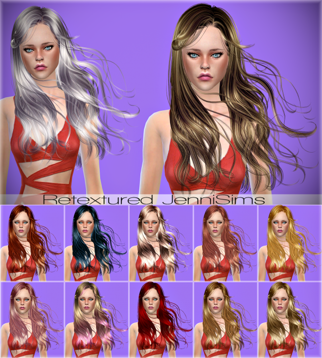 Newsea Athena Hair retexture by JenniSims