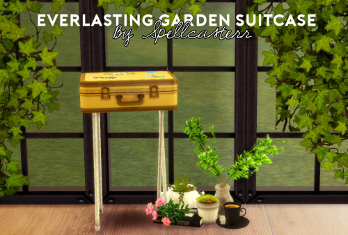 TS3 Everlasting Gardens Suitcase On Stand by Spellcasterr