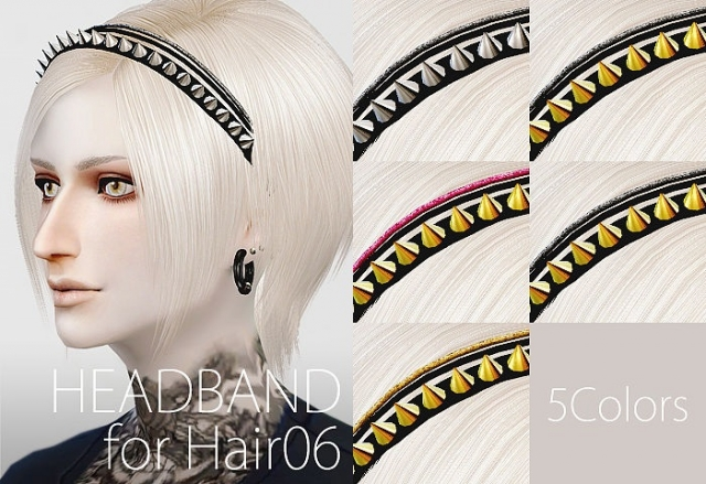 Headband01 for Hair06 by HA2D
