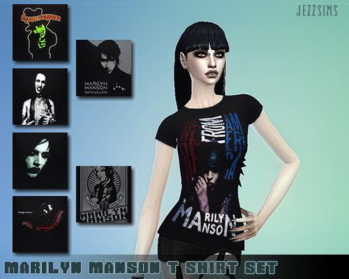 Jezz Sims  Clothing, Female : Marilyn Manson t-shirt set