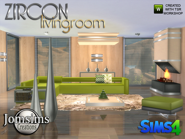 Zircon Modern Living Room by jomsims