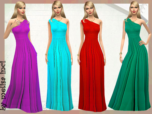 Asymmetric Silk Crepe Gown by melisa inci