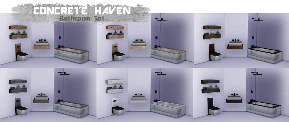 THINGSBYDEAN  Furniture, Bathroom : Concrete Haven Bathroom Set