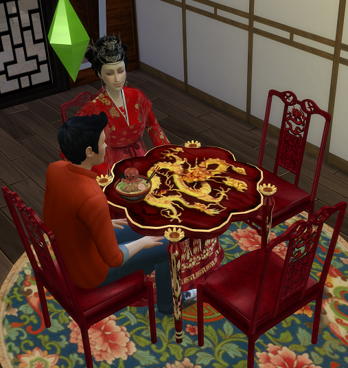 TS 2 to 4 Asian Table and Chair by biguglyhag