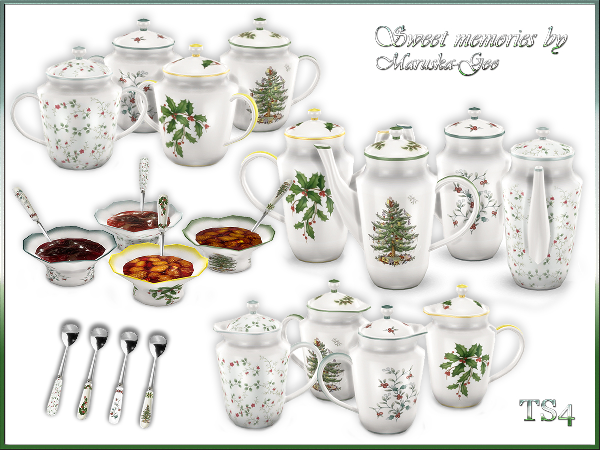 Sweet Memories Tea Set by MaruskaGeo