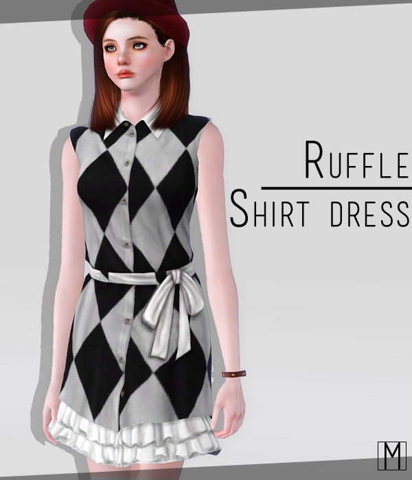 Ruffle Shirt Dress by Little M
