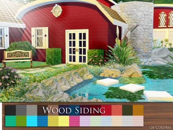Wood Siding by Pralinesims