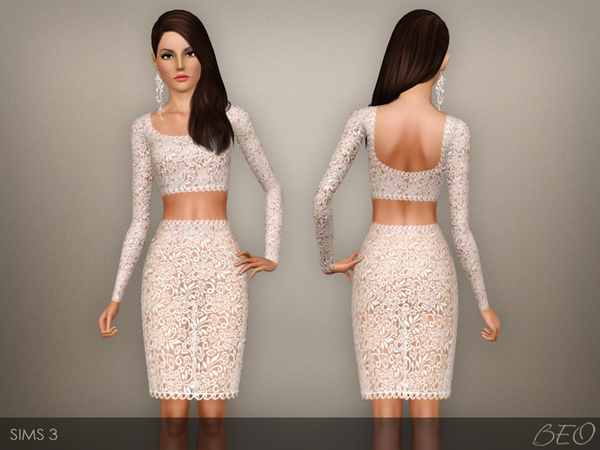 Lace trasparent dress 03 by BEO