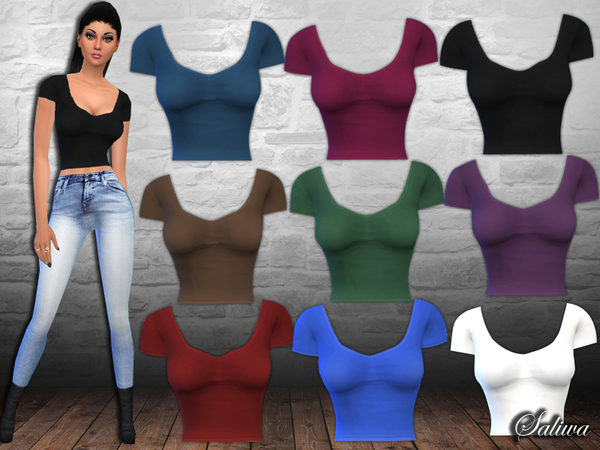 Casual Fit Crop Tops by Saliwa