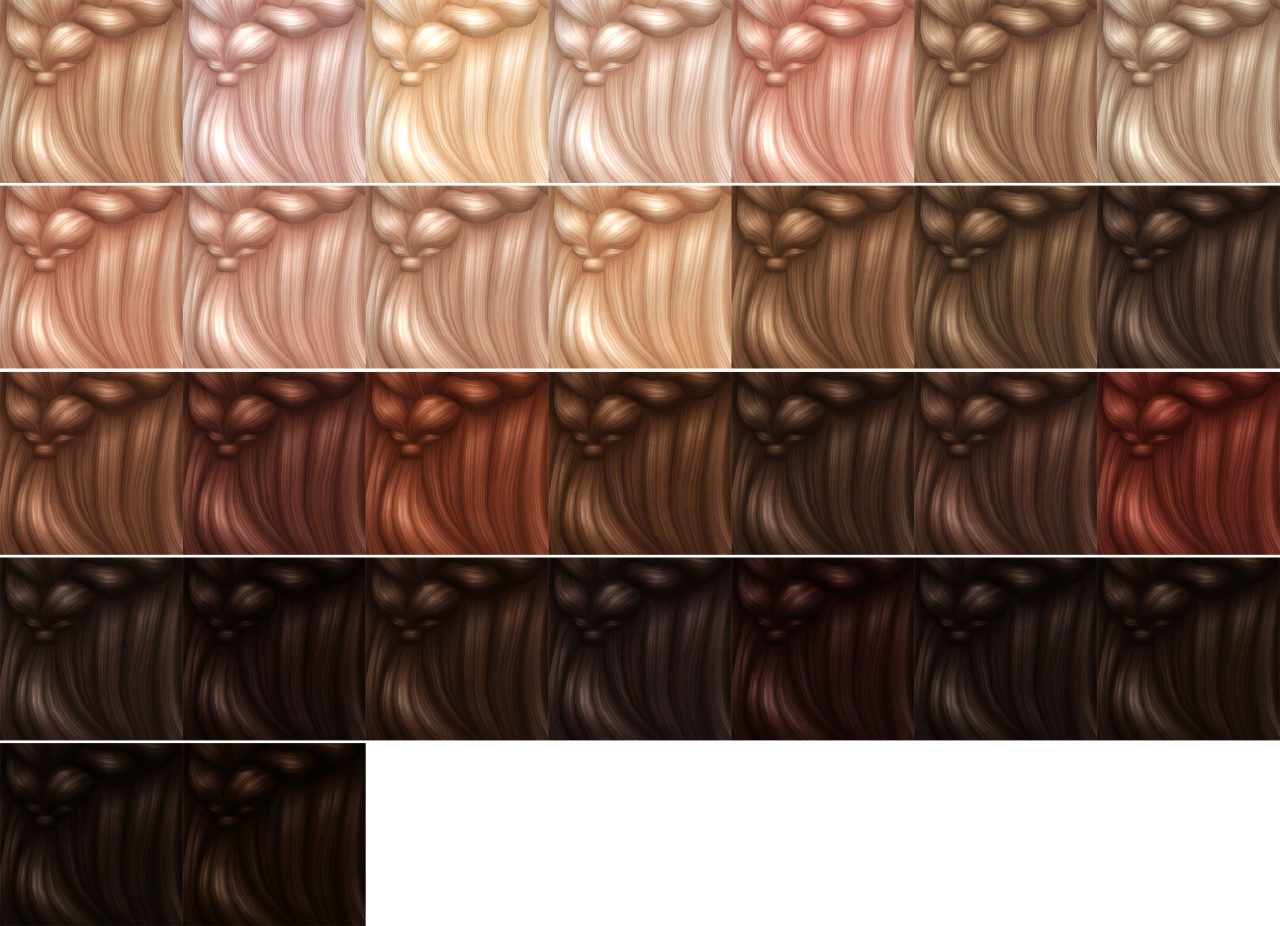 Movie Hangout Hair in 30 Recolors by LittleCrisps