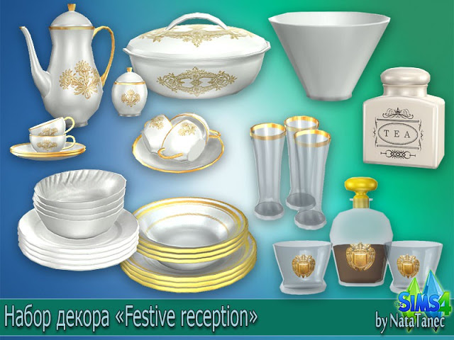 Festive Reception Dining and Clutter by Natatanec