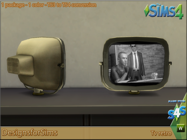 TS3 To TS4 Conversion  Tv Retro by Kyta1702