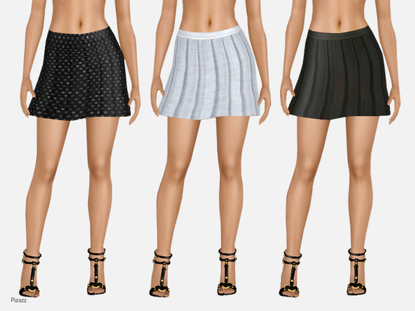 Short Pleated Skirt by pizazz