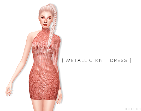 Metallic Knit Dress by ItsLeeloo