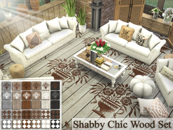 Shabby Chic Wood Set by Pralinesims