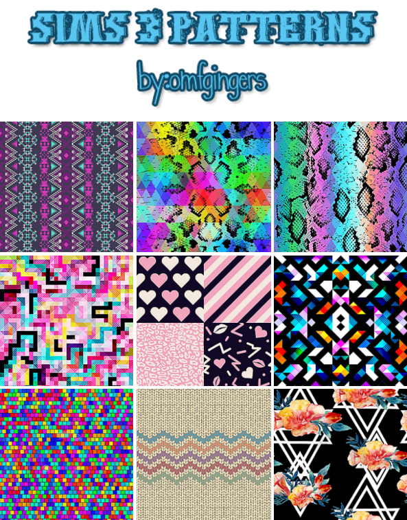 Sims 3 Patterns by Omfgingers