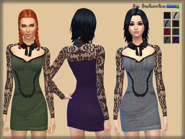 -Dress with Collar by bukovka-