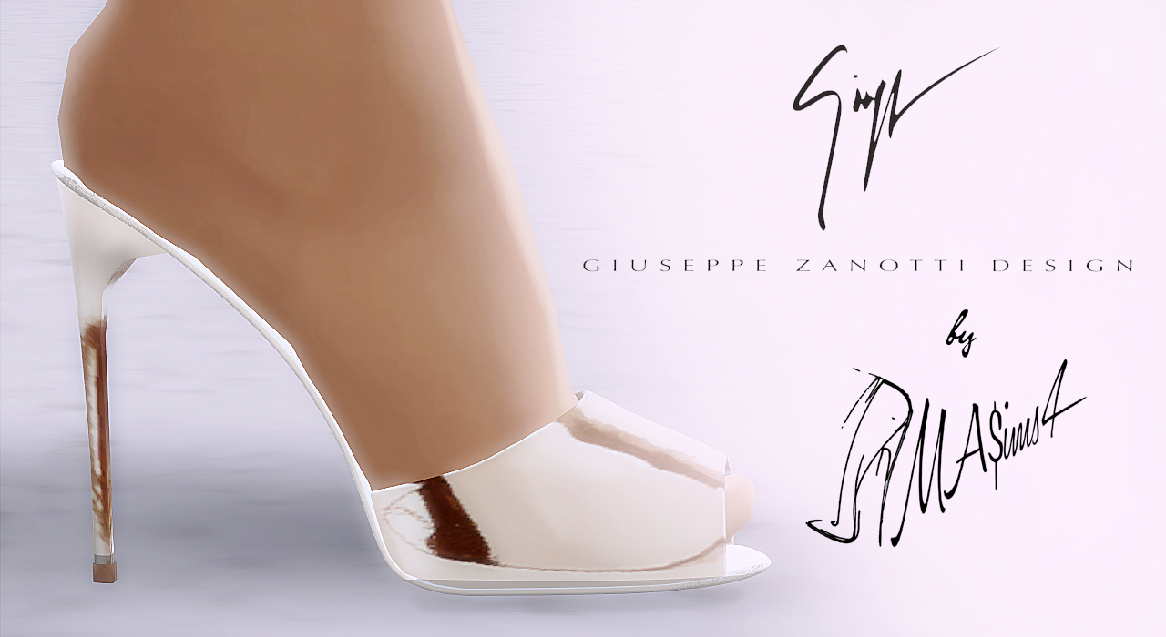 MASims4  Shoes, Shoes for females : G.Z. Mirrored Sandals by MrAntonieddu