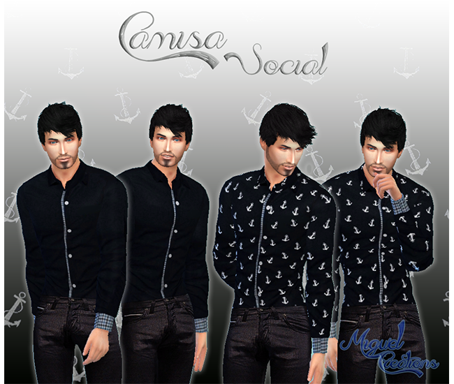 Camisa Social Masculina (Male Social Shirt) by Victor Miguel