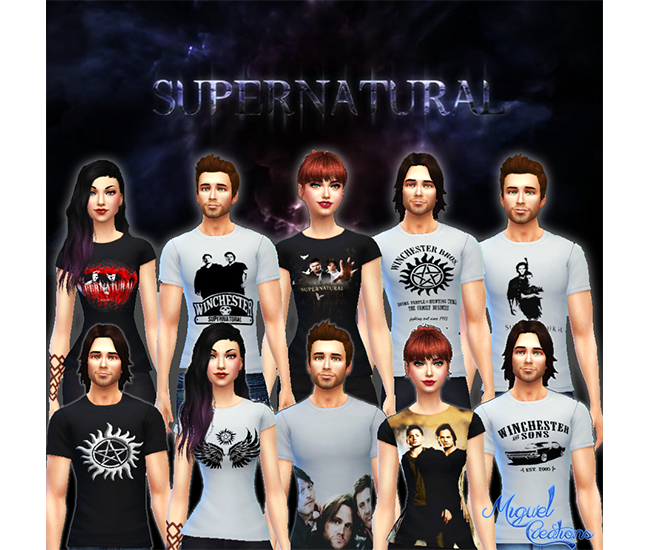 Camisetas Supernatural - Unissex (Shirts Supernatural) by Victor Miguel