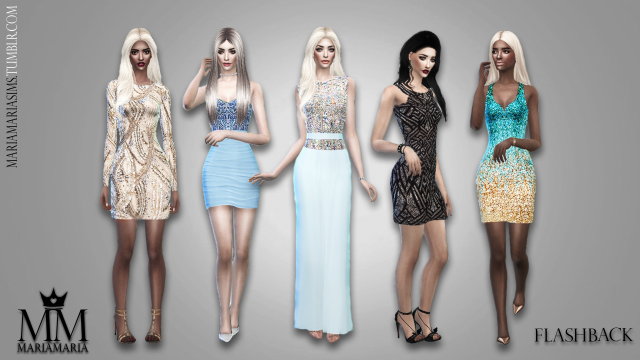 Sequin Dresses Part II by MariaMaria