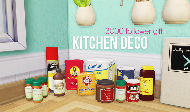 Kitchen deco - 11 meshes by Living Dead Girl
