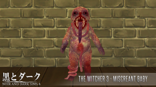TS4 - The Witcher 3 - Miscreant Baby by Noiranddarksims
