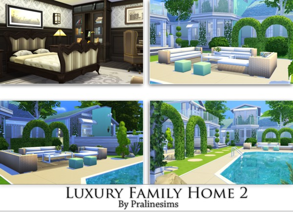 Luxury Family Home 2 by Pralinesims