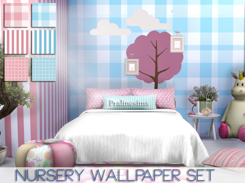 Nursery Wallpaper Set BY Pralinesims
