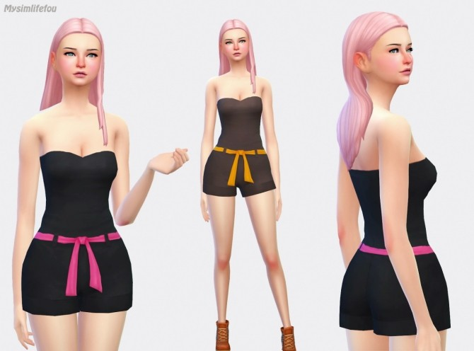 BUSTIER SHORT JUMPSUIT AT SIMLIFE  MYSIMLIFEFOU