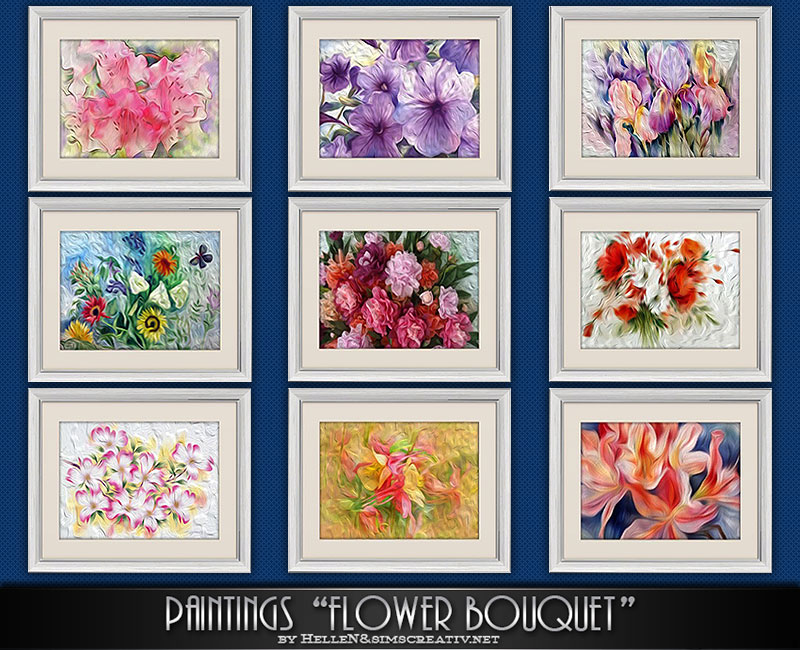 Flower Bouquet Paintings by Hellen