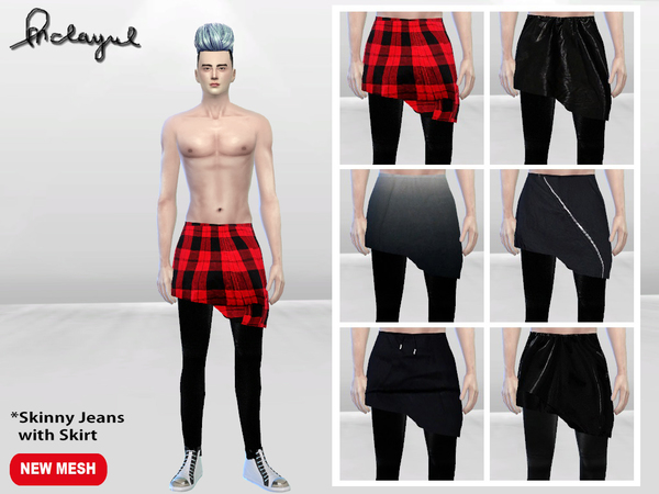 Korean Male Fashion Skirt by McLayneSims