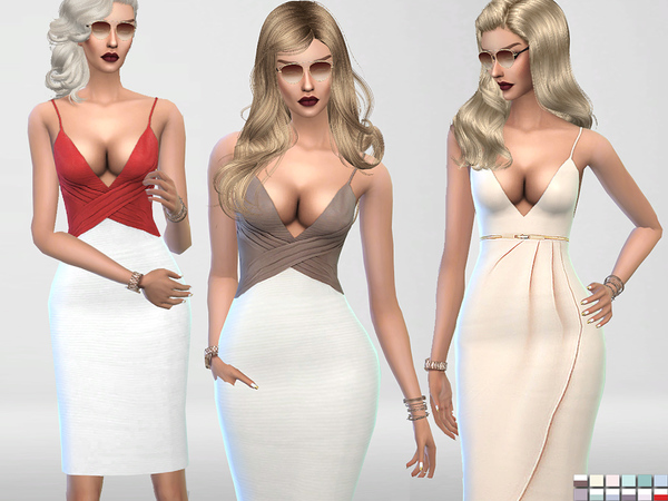 Chocolate--Two Bodycon Dresses by Pinkzombiecupcakes