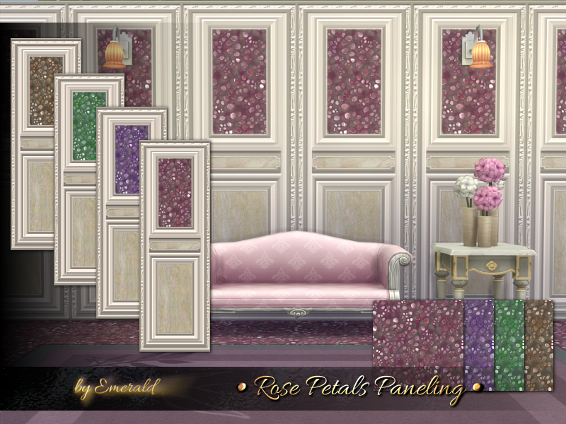 Rose Petals Paneling  BY emerald