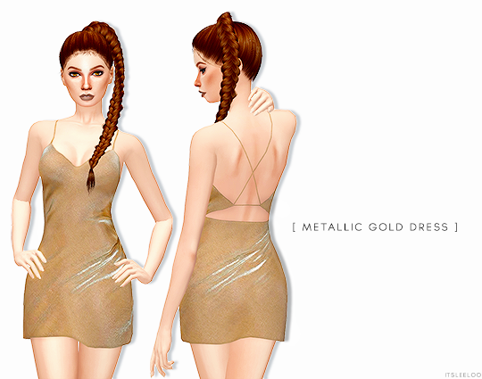 METALLIC GOLD DRESS by its-leelo
