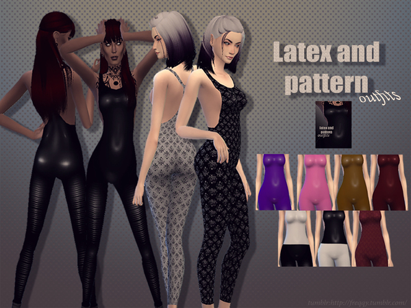 Latex and pattern outfits by freqqy