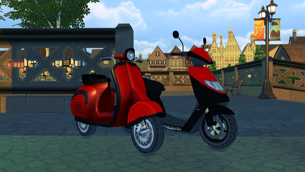 TS3 Scooter and GTA IV Faggio City-XS Conversion by Maximss