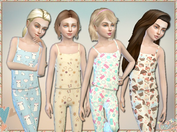 Lullaby Pajama Set For Girls by Simlark