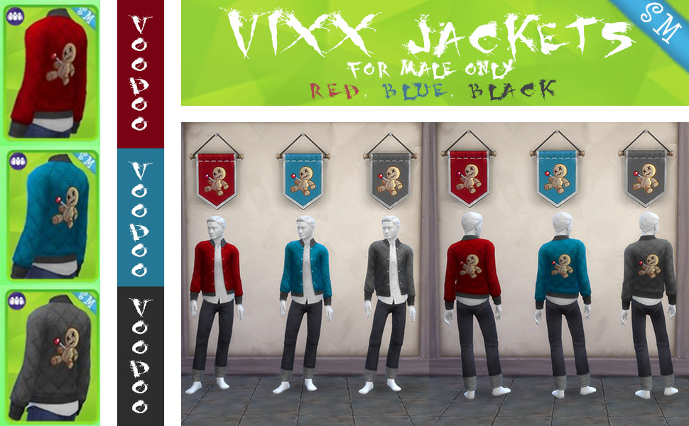 Men's Vixx Jacket Voodoo Logo - K-pop