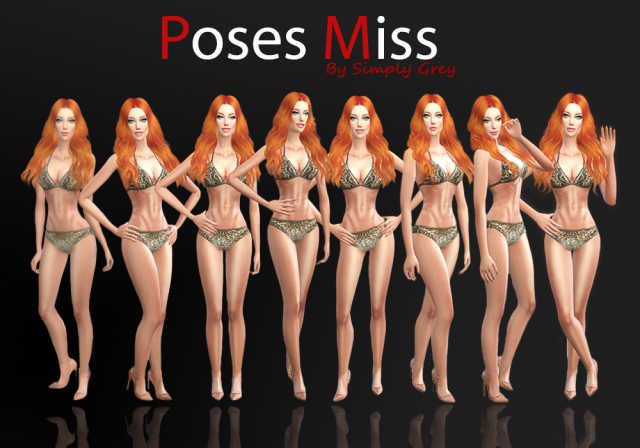 Pose Pack Miss by SimplyGrey