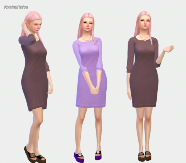 Wool Dress by mysimlifefou